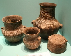 Corded-Ware culture pottery from 2,500 BC.