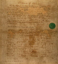 A handwritten copy of Florida's Ordinance of Secession