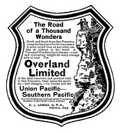 "Magazine display advertisement for the ""Overland Limited"" c1905."
