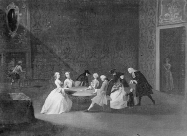 Card players in 18th Century Venice, by Pietro Longhi.
