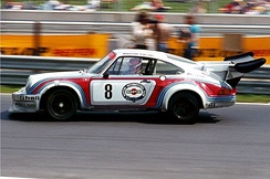 Gijs van Lennep in his Porsche Carrera RSR Turbo during the 1000 km of Nürburgring in 1974.