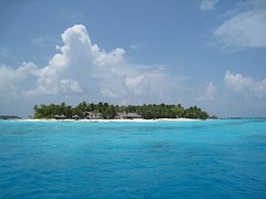 A view of the resort island of Fonimagoodhoo.