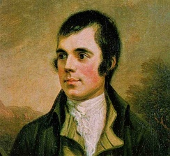 Robert Burns considered by many to be the Scottish national poet
