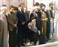 Ruhollah Khomeini rose to power after the Iranian Revolution.