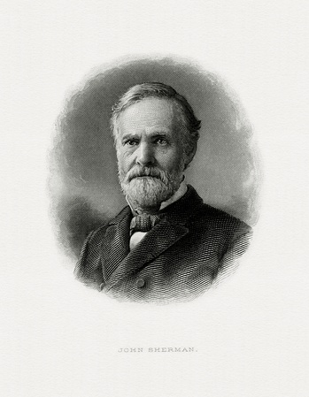 Bureau of Engraving and Printing portrait of Sherman as Secretary of the Treasury