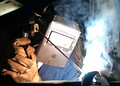 Shielded metal arc welding.