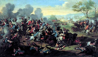 The Battle of Kolin in 1757 in Bohemia (the site is now in the Czech Republic)