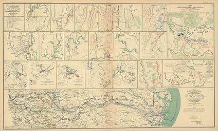 Savannah Campaign (Sherman's March to the Sea): detailed map.