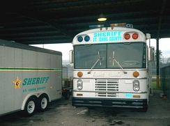 1980s All American Forward Engine in use as a police bus