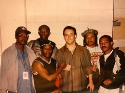 Toots and the Maytals with Dave Matthews when performing together in 1998
