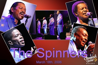 The Spinners in concert at the Chumash Casino Resort in Santa Ynez, California, on March 18, 2006