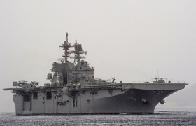USS America (LHA-6), an amphibious assault ship from Huntington Ingalls Industries and the lead ship of her class