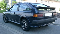 Rear view, late Scirocco GTX (Germany)