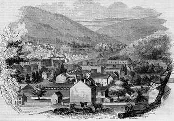 View of Pottsville in 1854