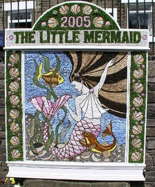 A well dressing at Hayfield