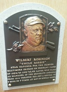 Plaque of Wilbert Robinson at the Baseball Hall of Fame