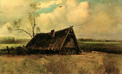 Саврасов А. К. Изба совета в Филях. 1860-е.