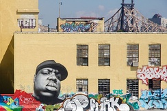 Mural of the Notorious B.I.G at 5 Pointz