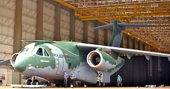 Roll out of the Embraer KC-390.