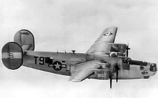 Consolidated B-24J-180-CO Liberator Serial AAF Serial No. 44-40807 of the 466th Bombardment Group.