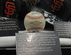 Bonds's 756th home run ball in the Hall of Fame