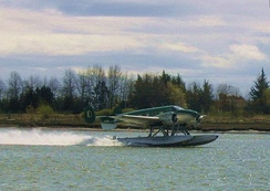 Beechcraft 18 on floats