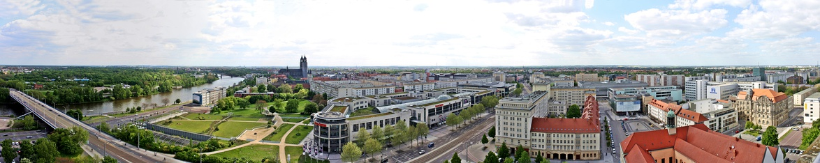 View of Magdeburg, from the tower of the Johanniskirche