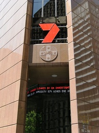 Seven's news centre at Martin Place, Sydney