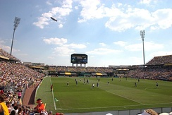 Mapfre Stadium, the first soccer-specific stadium in the U.S., and home to Columbus Crew SC.