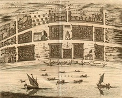 View of the Dutch port in Thoothukudi, in 1752