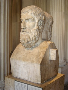 Democritus' atomist philosophy was later adopted by Epicurus (341–270 BCE).