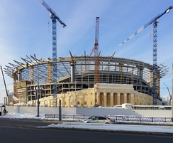 Reconstruction of the Yekaterinburg Central Stadium in January 2017
