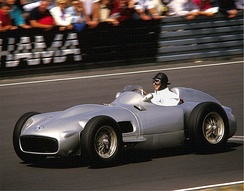 Juan Manuel Fangio won the World Drivers' Championship five times with Alfa Romeo, Maserati, Mercedes and Ferrari. He held the record from 1955 until 2003.
