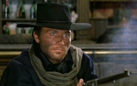 Franco Nero as the title character in Django (1966)