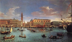 View of San Marco basin in 1697