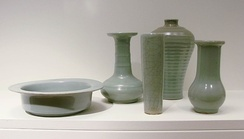 Group of 13th-century pieces of Longquan celadon