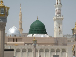 The Green Dome was built in 1297 CE over Muhammad's rawdhah (residence) and site of burial.