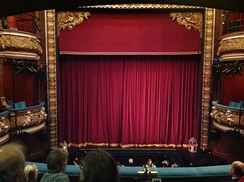 Curtain and orchestra pit of the Harrogate Theatre