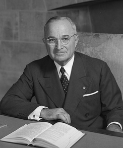 Truman in an official portrait