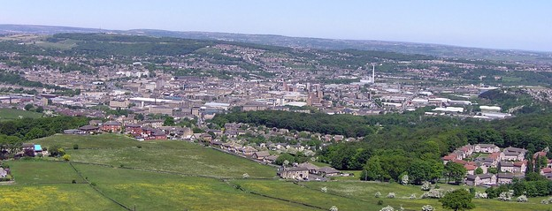 Huddersfield, viewed from Castle Hill