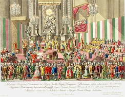 Leopold's coronation as King of Hungary in Pressburg