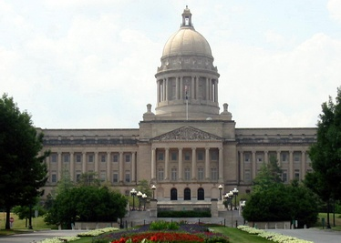 The Kentucky State Capitol building in Frankfort