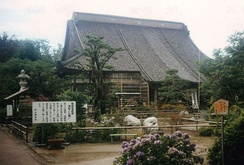 Konpon Temple was built on Sado where Nichiren lived during his exile.