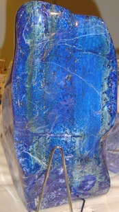 Lapis lazuli owes its blue color to a trisulfur radical anion (S−3)