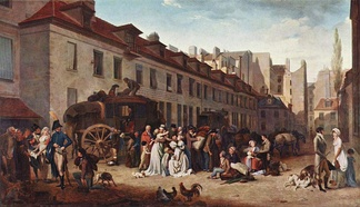 The Arrival of a Mail-coach in the Courtyard of the Messageries (1803, Musée du Louvre)[1]