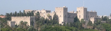 The Palace of the Grand Master of the Knights of Rhodes, administrative centre of the Knights Hospitaller
