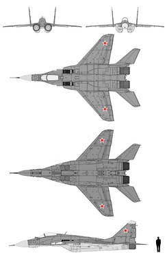 Schematics of MiG-29 (Russian Air Force)