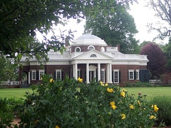 United States President and Governor of Virginia Thomas Jefferson's home, Monticello, is located in Albemarle County.