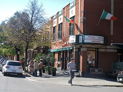 View of Montreal's Little Italy. Italian is the third-most spoken language in Montreal.