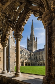Norwich Cathedral in England is an example of a Cathedral complex built during the Middle Ages.